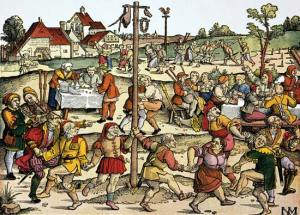 I don't care if it is the Middle Ages.  Too many people!
