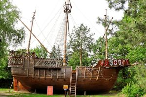 replica of the Santa Maria, courtesy of Wikicommons