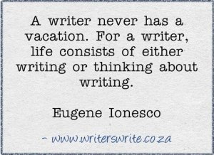 writers vacation