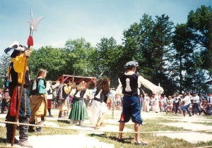 That's me in the green skirt, sort of toward the middle.  So.  Much.  FUN!