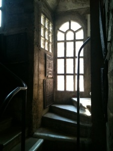 The architecture of the museum/castle itself is full of fun surprises, like this tower stairway.