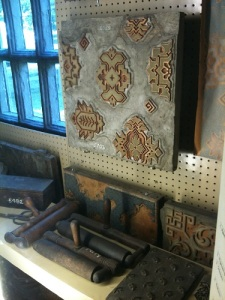 In case you ever wondered how wallpaper was made in the 19th century.