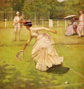 A Rally, by Sir John Lavery 1885 - Playing with the boys!