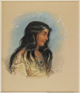 A Young Woman of the Flathead Tribe courtesy of the Walters Art Museum