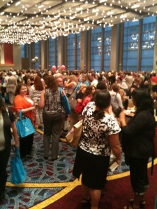 And here we see a giant room full of authors buying books at RWA Atlanta.