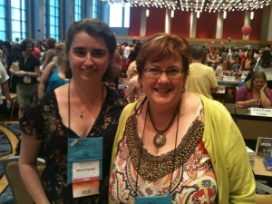 Me and one of my favorite authors, Elizabeth Boyle, at the RWA Nationals back in July.