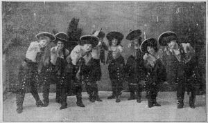 A Cowgirl Chorus from a vaudeville act at the Columbia Theater in 1903