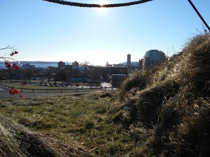 A view of Halifax and the harbor from The Citadel