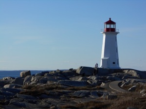 The lighthouse at Peggy's Cove, NS