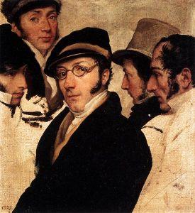 Francesco Hayez - Self-Portrait With A Group Of Friends