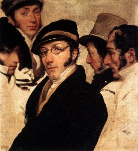 Francesco Hayez - Self-Portrait With A Group Of Friends