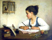 Girl-writing-bright
