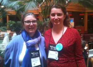 Me with my new friend, fellow author Mary Driver-Thiel