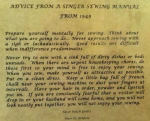 Sewing Manual 1949
