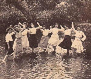 victorian women river